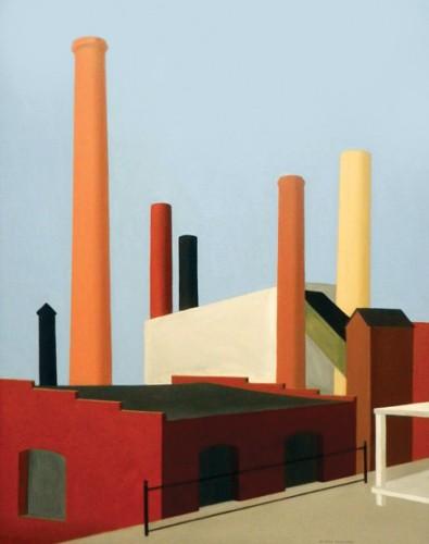 Ralston Crawford, Buildings, 1936.