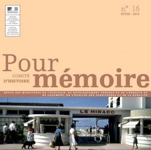 Couverture Pour Mémoire (16/hiver 2015) Plage du Mirado, Royan, août 1955,  photographe Pierre Mourier, collection MEDDE / MLETR.
