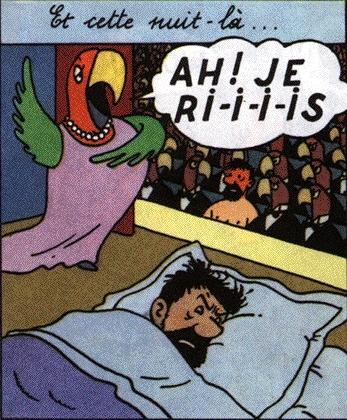 Le rêve de Haddock dans Les Bijoux de la Castafiore (1963).